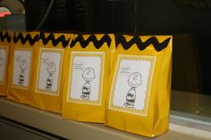 Charlie Brown party favor bags