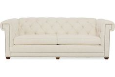 CR Laine Sofa: 3111 (Long Sofa) 3111  Claybourne  Long Sofa 98W 42D 35H in. Seat Height: 21	 Arm Height: 34 Seat Depth: 21.5	 In Arm Width: 75.5 Weight: 165 lbs.