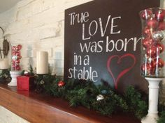 Words - True Love was Born in a stable