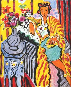 Matisse, Henri (1869-1954) - 1937 Odalisque with Yellow Persian Robe and Anemones, 1937