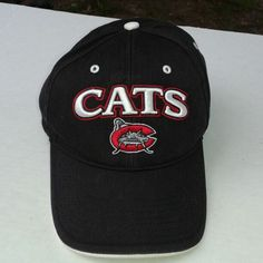 This is a used Mud Cats Men's Baseball Cap, it is one size fits all. it has velcro straps on the back of the cap. it is brown, white, red and silver. It has embroidered Mud Cats on front of the cap. it is in good used condition. Please view the pictures and if you have any questions please ask.