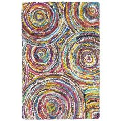 Safavieh Handmade Nantucket Modern Abstract Multicolored Cotton Rug | Overstock.com Shopping - The Best Deals on Accent Rugs