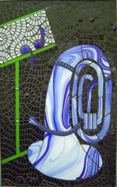 Mosaic Blue Horn