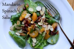 mandarin spinach salad - from the frugal girl