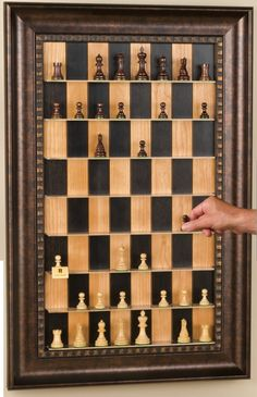 DIY Vertical Chess Set - I've seen these sell for $300+,  make your own for much less.