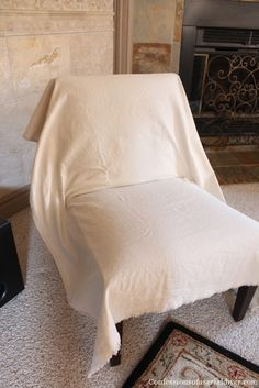 Genial Slip Covering An Armless Accent Chair