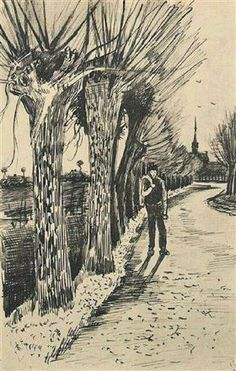Road with Pollard Willows - Vincent van Gogh