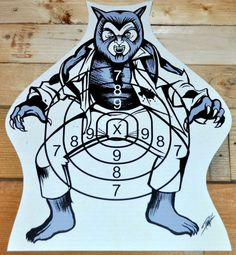 The Monster Squad Wolfman Nards! Children's Shooting Target game piece.  Produced 2 o' these for Halloween/Horror themed art show in Orlando in 2012. Sold both.  Check out the listing here and get ta shoppin'! Halloween's just around the corner, yall!