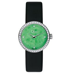 La D De @Dior Jade 25mm quartz - White gold, diamonds and jade. | The Jewellery Editor