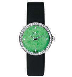 @Dior Jade 25mm quartz - White gold, diamonds and jade. | The Jewellery Editor
