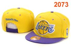 NBA Los Angeles Lakers Snapback Hat Yellow Blue $8.99