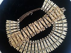 Vintage BSK Necklace Bracelet Set Designer Signed Jewelry Demi Parure Mad Men Mod Hollywood Regency by MartiniMermaid on Etsy