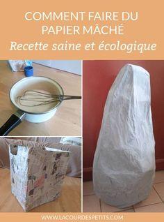 Une recette simple, non toxique et économique pour faire sa colle à papier mâché ! A vous les boîtes, pinatas et autres décos faites maison !