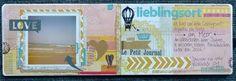 #ProjektIch Art Journal-Seite von Heidi Masthoff für www.danipeuss.de  Mein Lieblingsort