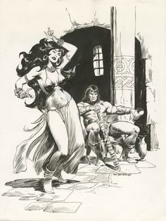 CONAN PORTFOLIO ILLUSTRATION - PLATE #4 by John Buscema