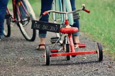Toddler's Red Tricycle  Free Stock Photo