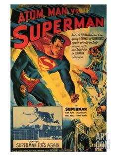 Atom Man Vs. Superman, 1948 Giclee Print at Art.com