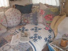 Cabin & Cottage blog : her cottage decorated camper - a vintage Shasta.