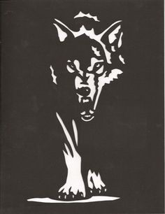 Dark wolf print by hilemanhouse on Etsy, $9.95