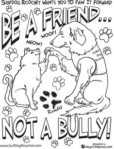 coloring pages for respect | Surf Dog Ricochet's anti bullying campaign to affect change