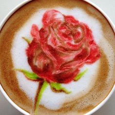 .·:*¨¨*:·. Coffee ♥ Art.·:*¨¨*:·. Rose latte