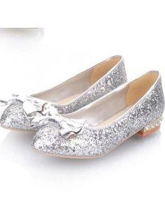 d3d21ce94fc97 V-Luxury Womens 40-TRISS1 Round Toe Rhinestones Bridal Flat ...
