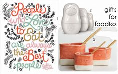 gift guide :: for the foodie