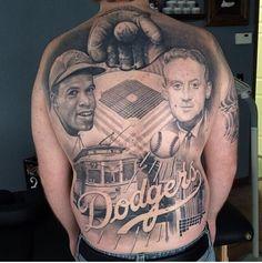 Dodgers baseball tattoo