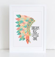 ❣ Please check our announcements tab for coupon codes! ❣ Dream Big Little One Native American Headdress Printable ❥ No physical item will be shipped to you. You are purchasing high resolution JPEG files. All files are 8 x 10 inches at 300 DPI. Download Includes: 1 RBG JPEG 1 CMYK If you do not wish to print from home, some amazing local print shops such as Staples and Costco provide beautiful wall art prints at very inexpensive prices. Alternatively, you may use online printer shops such ...
