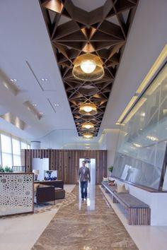(Light Fixture) Rizon Jet Lounge by SHH Corporate Interiors, Hotel Interiors, Office Interiors, Interior Design Inspiration, Office Interior Design, Design Ideas, Office Ceiling Design, Interior Ceiling Design, Interior Ideas