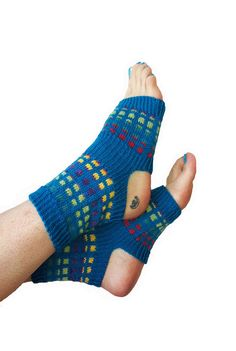 Hand Knit Yoga Socks  Pilates Socks  PiYo Socks  Dance by LizSox, $33.00