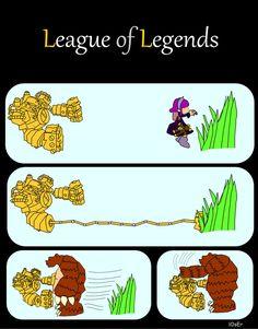 League of Legends: Catch Annie by lOsErJ.deviantart.com on @deviantART Nice grab, Blitz! #LoL #fanart #geek