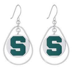 MSU Circle Drop Earrings