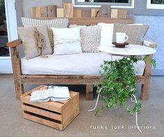 My 'Canadian award winning' pallet board sofa... really! | Funky Junk InteriorsFunky Junk Interiors