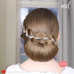 Bun Hairstyles For Long Hair, Pretty Hairstyles, Braided Hairstyles, Chignon Hairstyle, Hairstyle Men, Style Hairstyle, Hairstyles 2018, Wedding Hairstyle, Short Hair