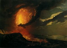 Joseph Wright of Derby. Vesuvius in Eruption, with a View over the Islands in the Bay of Naples. c. 1776-80. Oil on canvas. 122 x 176.4