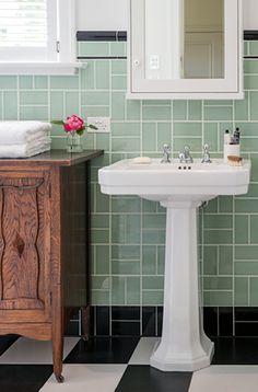 Perrin & Rowe Art Deco pedestal basin & tapware   Bathroom Gallery   The English Tapware Company