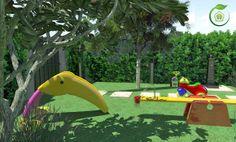 #progettogiardino #outdoor #design #garden #villa #3dgardendesign #childrenplayset