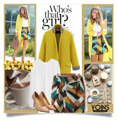 """""""Yoins skirt"""" by mini-kitty ❤ liked on Polyvore featuring yoins and yoinscollection"""