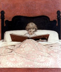 Reading in Bed- adorable
