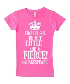 Hot Pink 'She is Fierce' Fitted Tee - Infant, Toddler & Girls