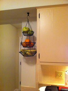 kitchen organization. get fruit basket off the counter