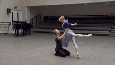 Sarah Lamb and Steven McRae rehearsing Romeo and Juliet