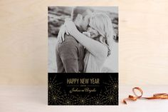 Sparkle New Year's Photo Cards by Leah Bisch at minted.com
