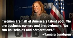 """""""Women are half of America's talent pool. We are business owners and breadwinners. We run households and corporations. Business Articles, Personal Goals, Career Goals, Business Women, The Voice, America, Households, Teaching, Running"""