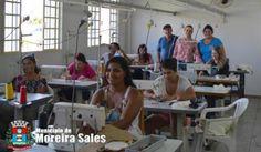 Nova turma dá início às aulas de costura oferecida pela prefeitura