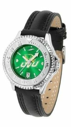 Utah Valley Wolverines Ladies Leather Wristwatch by SunTime. $78.95. Adjustable Band. Women. Water Resistant. Poly/Leather Band. Officially Licensed Utah Valley UVU Wolverines Ladies Leather Wristwatch. Utah Valley Wolverines Ladies Leather Wristwatch with AnoChrome face. The Wolverines wrist watch has functional rotating bezel color-coordinated with team logo. A durable, long-lasting combination nylon/leather strap, together with a date calendar make this the ...