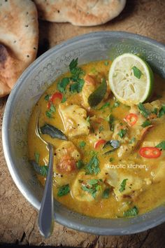 Pineapple & Fish Curry from Kayotic Kitchen; looks amazing!