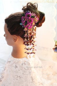 Geisha de la Flor Kanzashi palillo cabello por GEISHAFLOWER en Etsy