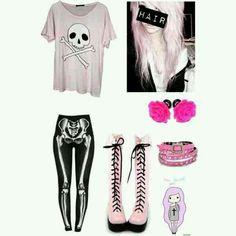 Pastel goth style♡♡